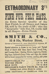 Advert for Smith & Co, milliner 6455